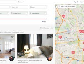Vyhledávání na airbnb.com