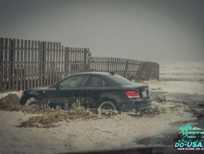 Na tohle jsme docela hleděli, že tam takhle někdo nechal svoje auto :-(